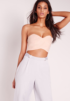 Missguided Cut Out Bralet Nude