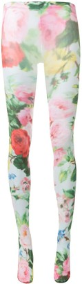 Richard Quinn Blue Lowry floral-print tights