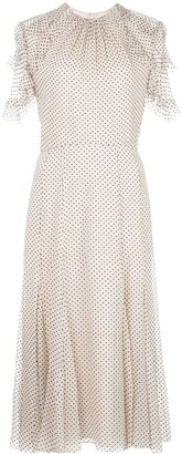 Jason Wu Collection Polka Dot Ruffled Sleeve Dress