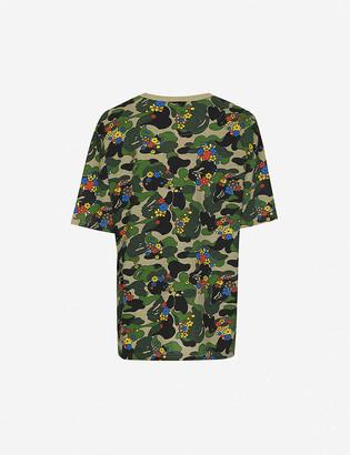 Bape ABC Flower graphic-print jersey T-shirt