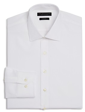 The Men's Store at Bloomingdale's Textured Solid Slim Fit Basic Dress Shirt - 100% Exclusive