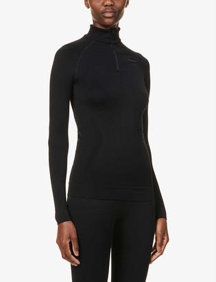 FALKE ERGONOMIC SPORT SYSTEM Maximum Warm high-neck stretch-jersey top