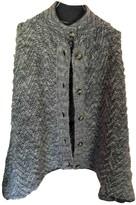 Peuterey Grey Wool Coat for Women