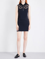 Claudie Pierlot Ramos Bis crepe mini dress
