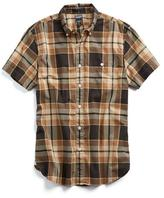 Todd Snyder Check Short Sleeve Shirt in Brown