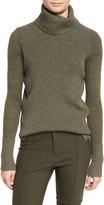Veronica Beard Asa Ribbed Cashmere Turtleneck Sweater, Army