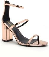 Qupid Double Strap Block Heel Sandals
