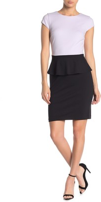 Philosophy di Lorenzo Serafini Short Sleeve Peplum Dress