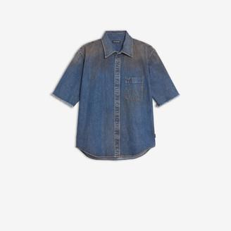 Balenciaga Normal Fit Short Sleeves Logo Shirt
