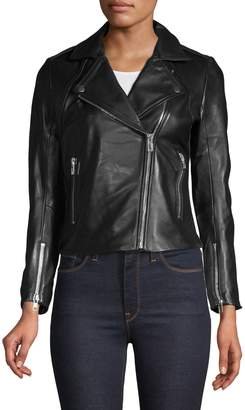 Sandro Veinarde Leather Biker Jacket