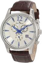 Lucien Piccard Men's 11567-02S Adamello Stainless Steel Watch with Brown Leather Band