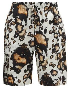 Edward Crutchley Leopard-print Silk Shorts - Leopard