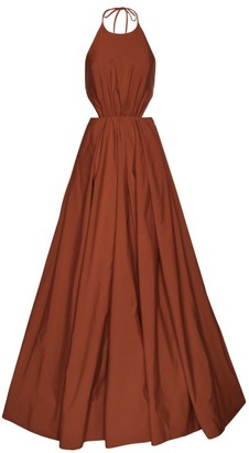 STAUD Georgia Halterneck Dress