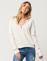 Socialite Raw Cross Front Womens Sweatshirt