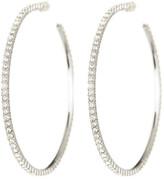 Nadri Large Channel Set Micropave Crystal Hoop Earrings