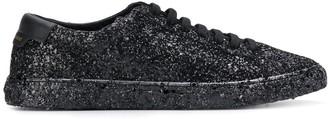 Saint Laurent Andy sequinned low-top sneakers