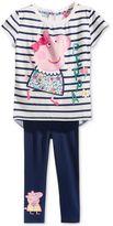 Nickelodeon Nickelodeon's Peppa Pig 2-Pc. T-Shirt and Leggings Set, Little Girls (4-6X)
