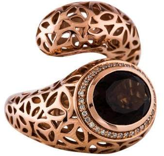 Di Modolo Sahara Smoky Quartz & Diamond Ring