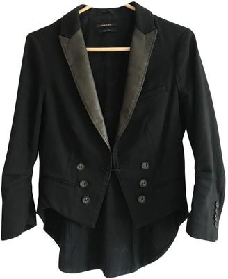 Diesel Black Gold Black Cotton Jacket for Women