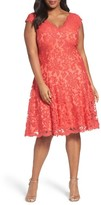 Tadashi Shoji Plus Size Women's Embroidered Fit & Flare Dress