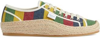 Gucci Men's Baiadera stripe espadrille sneaker