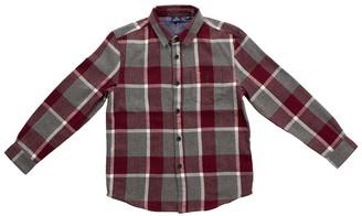 Bear Camp Flannel Plaid Button Down Shirt (Baby Boys)