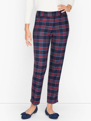 Talbots Hampshire Ankle Pants - Merry Tartan