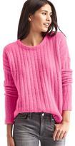 Ribbed crewneck sweater