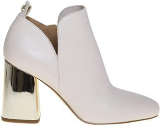 Michael Kors Dixon Leather Ankle Boot Ivory Color