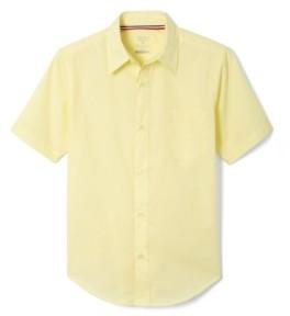 French Toast Husky Boys Short Sleeve Dress Shirt with Expandable Collar
