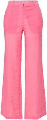 Victoria Beckham Crinkled Mousseline Wide-leg Pants