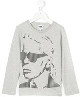 Karl Lagerfeld graphic long-sleeved top - kids - Cotton - 2 yrs