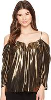 Nicole Miller Women's Foiled Glitter Schuler Top