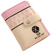 Surker Womens PU Leather Three-Fold EXO Short Section Wallet