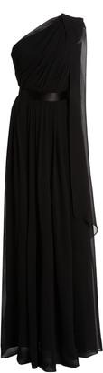 Max Mara Berger One-Shoulder Silk Dress