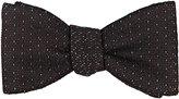 Barneys New York Men's Dash-Woven Textured Silk Bow Tie