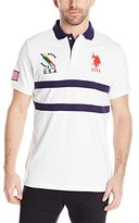 U.S. Polo Assn. Men's Chest Striped Pique Polo Shirt
