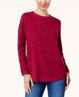 Karen Scott Fleece Crew-Neck Sweatshirt, Created for Macy's