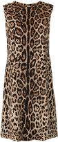 Dolce & Gabbana leopard print shift dress - women - Silk/Polyester/Spandex/Elastane - 40