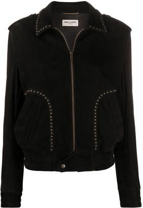 Saint Laurent Studded Collared Jacket
