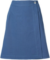 A.P.C. crossover buttoned skirt
