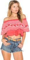 Faithfull The Brand Sundown Top in Red. - size US 2/ UK 6 (also in US 4/ UK 8,US 6/ UK 10,US 8/ UK 12)
