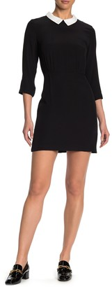 FRNCH Collared Two-Tone Dress