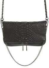 Zadig & Voltaire Nano Rocky Savage Python Embossed Leather Bag
