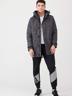 Emporio Armani Ea7 Reflective Hooded Parka Jacket - Grey Camo