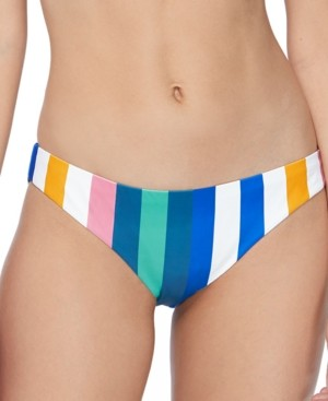 Raisins Juniors' Beach Please Striped Bikini Bottoms Women's Swimsuit