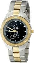 Disney Men's W001899 Mickey Mouse Analog Display Quartz Two Tone Watch