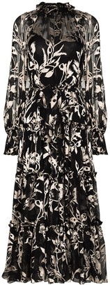 Zimmermann Floral-Print Ruffled Maxi Dress