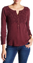 Lucky Brand Thermal Henley Tee