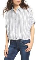 Lush Women's Stripe Short Sleeve Top